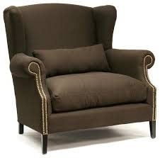Brown Accent Chair Napoleon Chocolate Brown Brass Nail Wingback Arm Chair