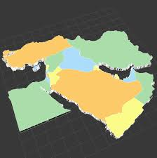 Maps Of The Middle East by Map Of The Middle East 3d Model Cgstudio