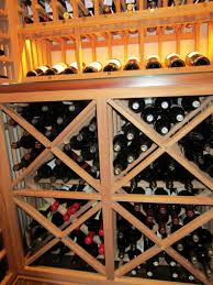simple yet impressive custom wine cellar design for a home in houston