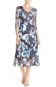 komarov ruffle print chiffon a line dress u0026 shawl available at