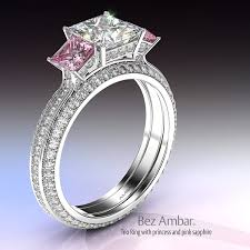 rings pink stones images Awesome pink diamond wedding rings pink diamond wedding rings jpg