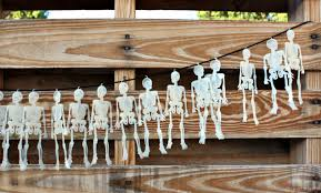 How To Make A Halloween Skeleton Dollar Store Diy Halloween Skeleton Garland Pearmama