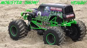 wheels monster jam grave digger truck 1 8 scale remote control monster jam grave digger playtime in the