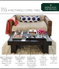 Style A Coffee Table How To Style A Rectangle Coffee Table The Anatomy Of Design
