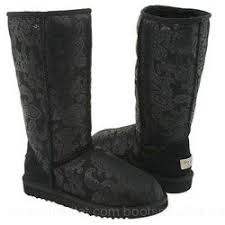 s gissella ugg boots ugg s patent paisley black 131 00 ugg