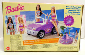 yellow jeep on beach mattel 67385 barbie beach blast 4x4 jeep vehicle yellow ebay