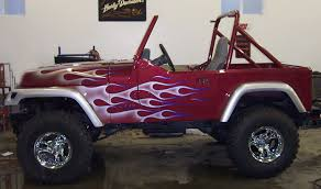 jeep painting canvas dennis day designs lettering pinstriping murals