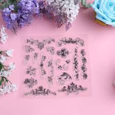 wholesale christmas tree u0026 flower diy silicone clear rubber stamp