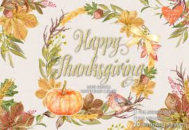 happy thanksgiving images clip art watercolor