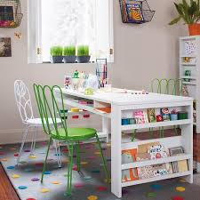 playroom table with storage land of nod playroom loving this table for the girls