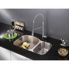 ruvati rvf1210b1ch commercial style pullout spray kitchen faucet