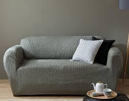 housse de canapé pas cher gris housse bi extensible fauteuil et canapé à accoudoirs becquet