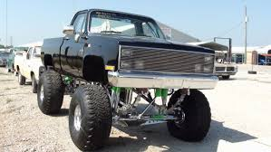 Ford Trucks Mudding Lifted - huge 1986 chevy c10 4x4 monster truck all chrome suspension