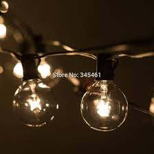 aliexpress com buy 50ft globe string lights g50 50 clear globe