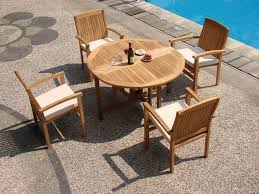 48 inch round folding table wholesaleteak 5 piece grade a teak dining set with 48 round folding