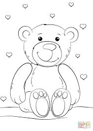 coloring printables printable valentines pages cute teddy