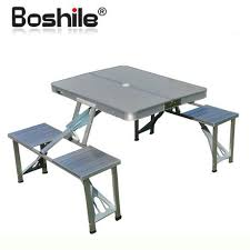 Outdoor Folding Dining Tables 2018 Boshile Outdoor Folding Tables And Chairs Set Aluminum Alloy