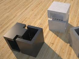 Concrete Side Table Concrete Side Table 4 Slabs Linked Dr0