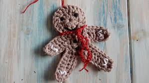 how to crochet a gingerbread man christmas decoration youtube