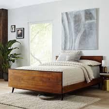 west elm bedroom lars mid century bed west elm
