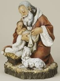 santa and baby jesus picture santa holding baby jesus figurine the collectors hub