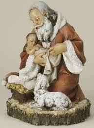 santa and baby jesus santa holding baby jesus figurine the collectors hub