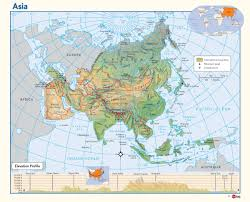 Continent Of Asia Map by Physical Map Of Asia Maps Com