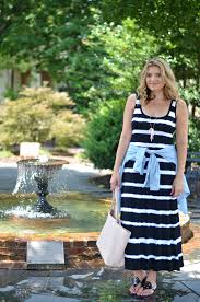 striped maxi dress chambray top by lauren m