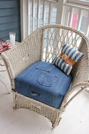 Summer Chair Cushions Motherhood Moment Thrifty Thinking How To Use Old Blue Jeans To