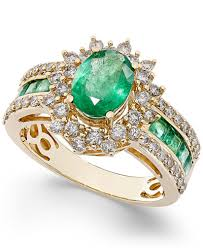 ruby emerald rings images Emerald 2 1 5 ct t w and diamond 3 4 ct t w ring in 14k tif