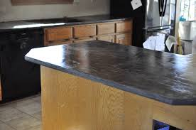 faux concrete countertops super easy i used henry feather finish