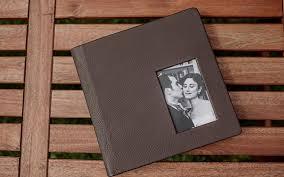 brown leather photo album brown leather wedding album minneapolis photographer