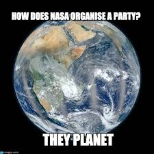 Earth Meme - how does nasa organise a party earth meme on memegen