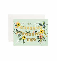Garland by Welcome Garland Greeting Card By Rifle Paper Co Made In Usa