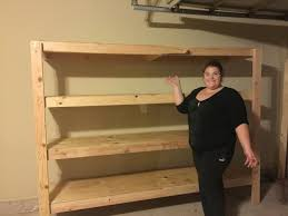 Building Wood Shelves In Shed by 25 Best Diy Garage Shelves Ideas On Pinterest Diy Garage