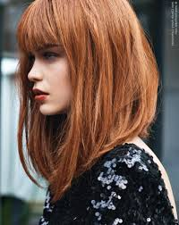 extra long bob haircuts red hair in a long bob with a back to