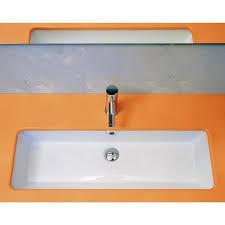 Narrow Rectangular Bathroom Sink Stainless Steel Inset Sink Small Rectangular Bathroom Sink