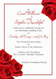 red rose wedding invitations decorating of party