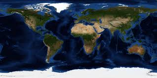 True Size World Map by Nasa Visible Earth July Blue Marble Next Generation W