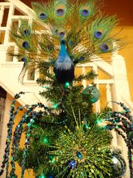 Peacock Decorations by Le Beau Paon Victorien Christmas Theme Tree 2011 Peacocks