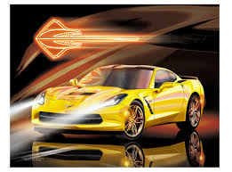 yellow corvette c7 americanautoart com c7 velocity yellow corvette stingray