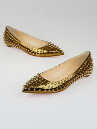 christian louboutin bronze specchio calf leather pigalle spikes