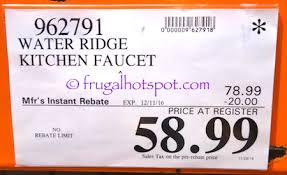 wr kitchen faucet costco sale water ridge style pull out kitchen faucet 48 99