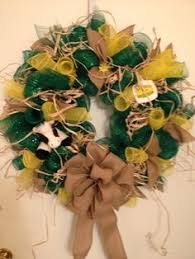 deere ribbon deere country wreath with sunflowers and tractor ribbon