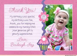 baby bday cupcake photo thank you card birthday purple pink baby birthday