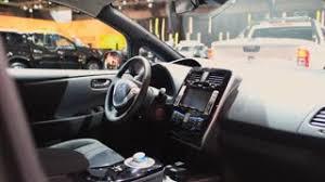 nissan leaf 2017 interior nissan leaf full electric zero emission car on display during the