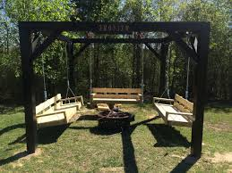 Wooden Solar Lights by Simple Diy Porch Swing Fire Pit Gazebo With Plans Eclipse Graphite