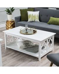 Quatrefoil Table L 19 Belham Living Quatrefoil Coffee Table White