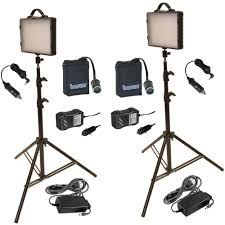 led studio lighting kit bescor led 200knmh twin 200w led studio light kit led 200knmh