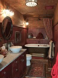 amazing tuscan bathroom decor for small space with vintage bathtub